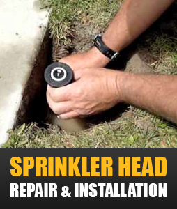 sprinkler head repair and installation
